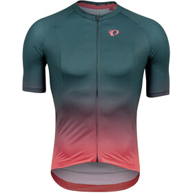 PEARL iZUMi Interval Maillot Manga Corta Hombre, pine/atomic red transform